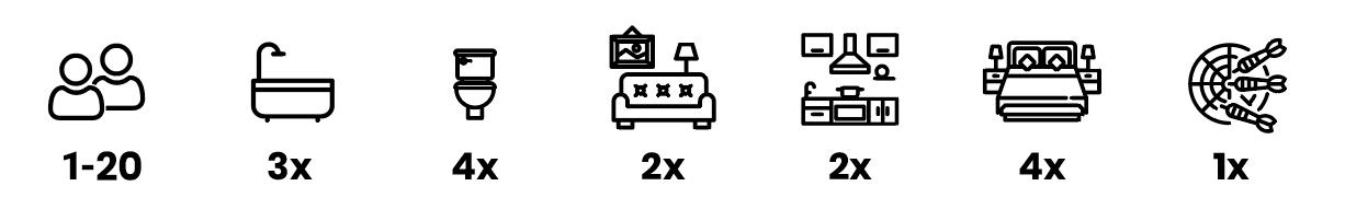 Ikony ubytovanie celá chata