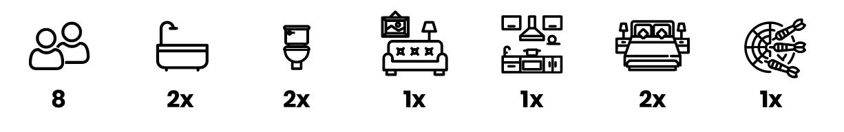 Ikony ubytovanie chata časť Exclusive line